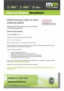 MyBid discount offer on hand watering pellets