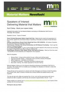 Speakers of Interest Delivering Material that Matters